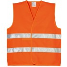 GILET ORANGE HAUTE VISIBILITE DOUBLE BANDES RETRO